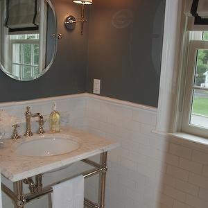 pretty pink tulips bathrooms white roman shade gray. Black Bedroom Furniture Sets. Home Design Ideas