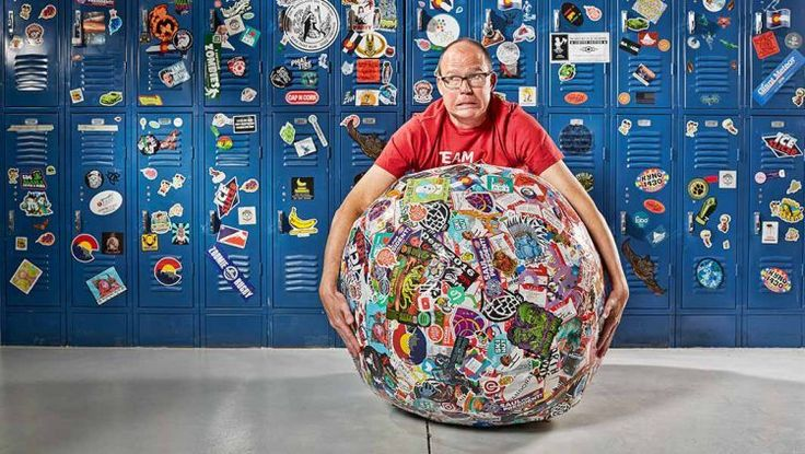 Laughing Squid Sticker Printer StickerGiant Sets Guinness World Record for Largest Ball of Stickers