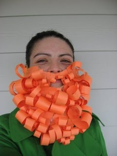 Craft a paper Leprechaun Beard for St. Patrick's Day. Cute children's art project.