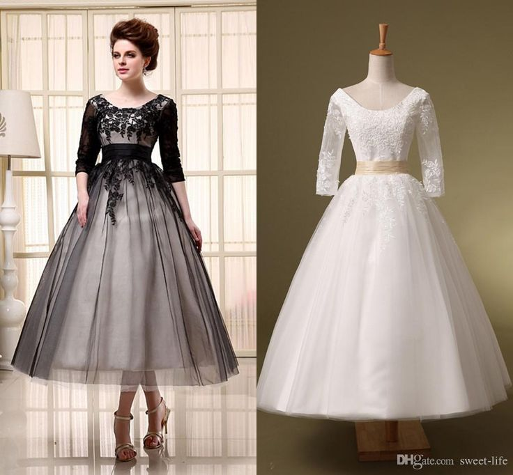 Black And White Wedding With Sleeves Informal For Older Brides Check More
