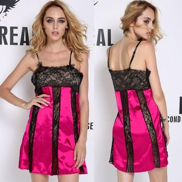 Fashion New Womens Sexy Strap Lace Dress Braces Sleepwear Sexy Summer Wear