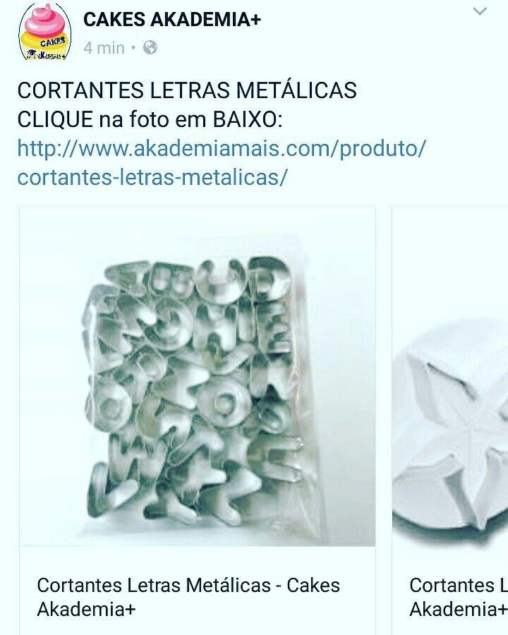 CORTANTES LETRAS METÁLICAS CLIQUE na foto em BAIXO: http://www.akademiamais.com/produto/cortantes-letras-metalicas/