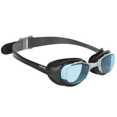 Sprzet plywacki Pływanie, Aquafitnes - Okularki pływackie XBASE BLACK senior NABAIJI - Sprzęt pływacki