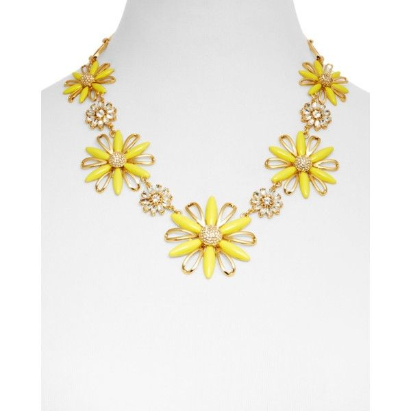 "kate spade new york Daisy Dreams Statement Necklace, 18"" ($160) ❤ liked on Polyvore featuring jewelry, necklaces, yellow, kate spade necklace, bib statement necklace, yellow jewelry, daisy necklace and kate spade jewelry"