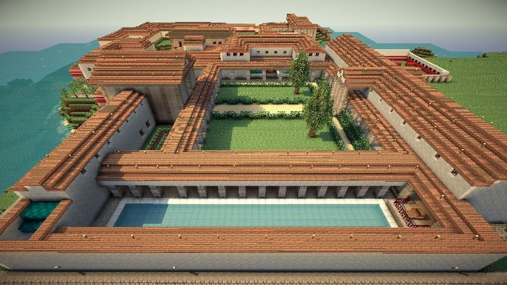 Roman Villa - Villa Syndexioi (World Save, Schematic) Minecraft Project