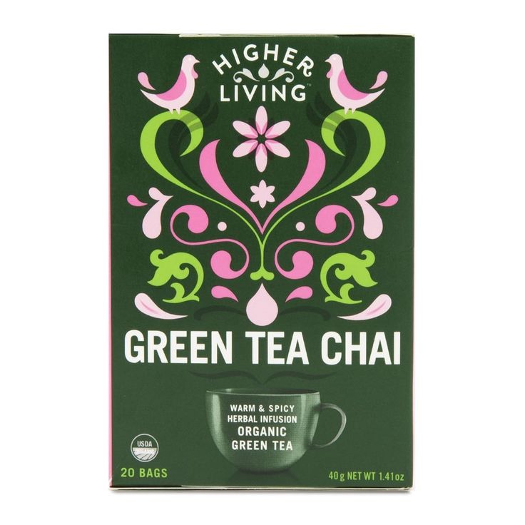 Higher Living Organic Chai Green Tea 20Pk