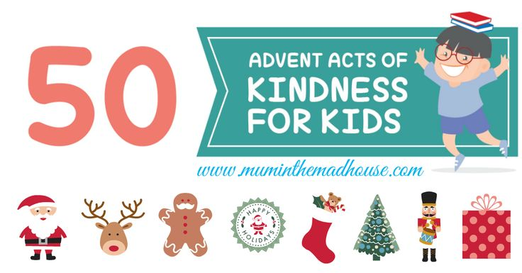 Acts of Kindness for Advent, an alternative advent calendar for kids. Focus on giving this advent with 50 acts of kindness suitable for children