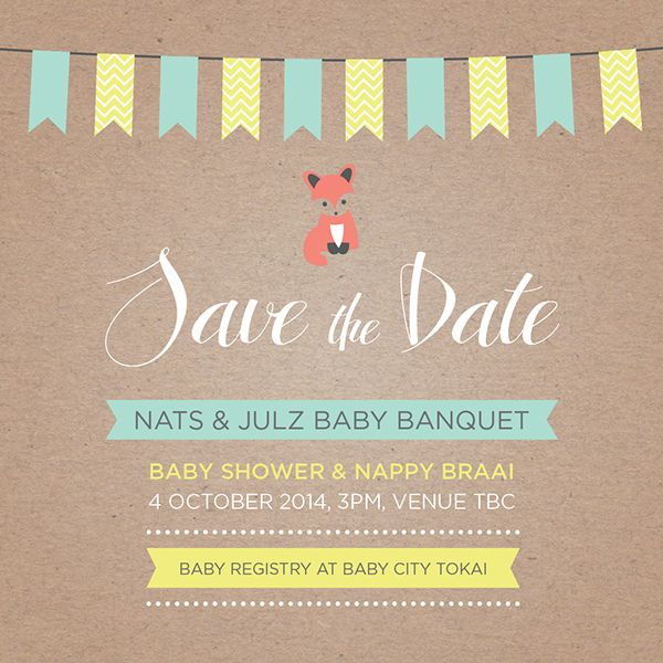 Baby Banquet {Save the Date} on Behance by Amy Olivia #antrokas #invitation #babyshower