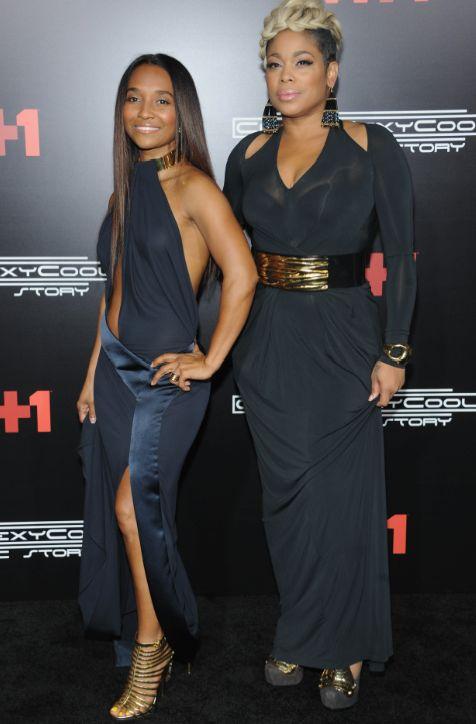 Rozonda Thomas ( Chilli) left and right Tionne Watkins ( T-Boz)