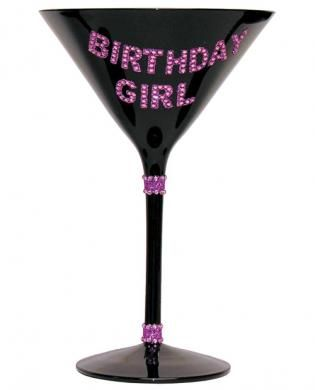 Party it up in style with the Birthday Girl Martini Glass from Forum Novelties. Whether it is your birthday or your friend's birthday, this bedazzled martini glass will draw attention.