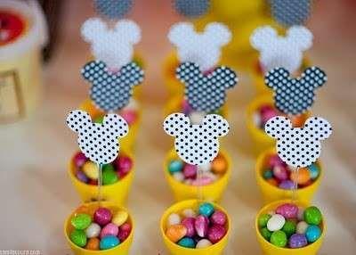 Decoración cumpleaños infantiles: Fotos de manualidades - Cabeza de Mickey Mouse, idea de decoración infantil