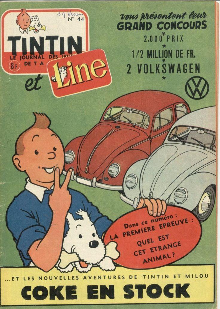 Journal de TINTIN édition Belge N° 44 du 31 Octobre 1956 - Grand concours