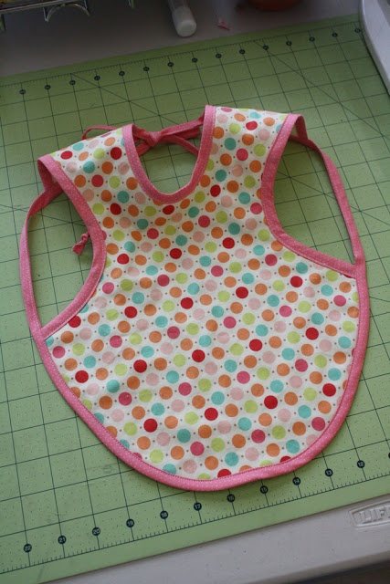 DIY:  Pattern and Instructions to make this cute baby apron......quick and easy!