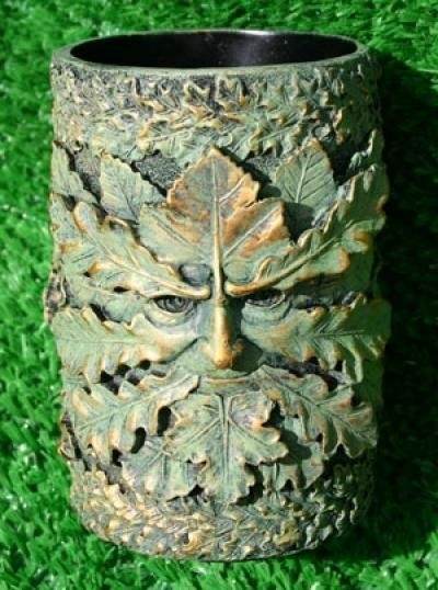 Green Man Pot from online store Goddess and The Green Man. UK.