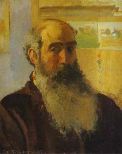 카미유 피사로(Camille Pissarro)의 자화상 / 인상주의에서 신인상주의까지 걸쳐 활동하며 훗날 조르주 쇠라, 폴 시냐크 등과 함께 신인상주의 화파로 명성을 끼친 카미유 피사로. 따뜻하고 친절한 품성의 소유자로써 세잔, 르누아르, 고갱 등 인상파 동료들의 정신적 지주였으며 세잔은 그를 신(lord)으로 표현하기도 했다. 이런 그의 성품이 그의 자화상에 담겨 그는 신비로우면서도 자애로운 모습으로 표현되어있다.