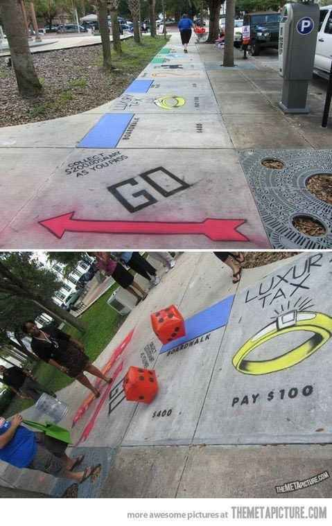 With a real life Monopoly game. | 33 Awesome Marriage Proposals You Couldn't Say No To