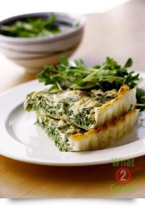 Spinach & Feta Tart with Basil & Garlic