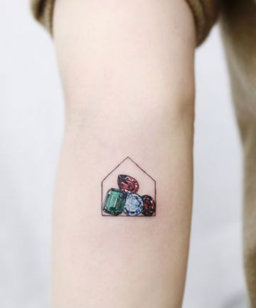 472a40668 21 Gemstone Tattoos So Pretty You Won't Need Jewelry Anymore | Horse ...
