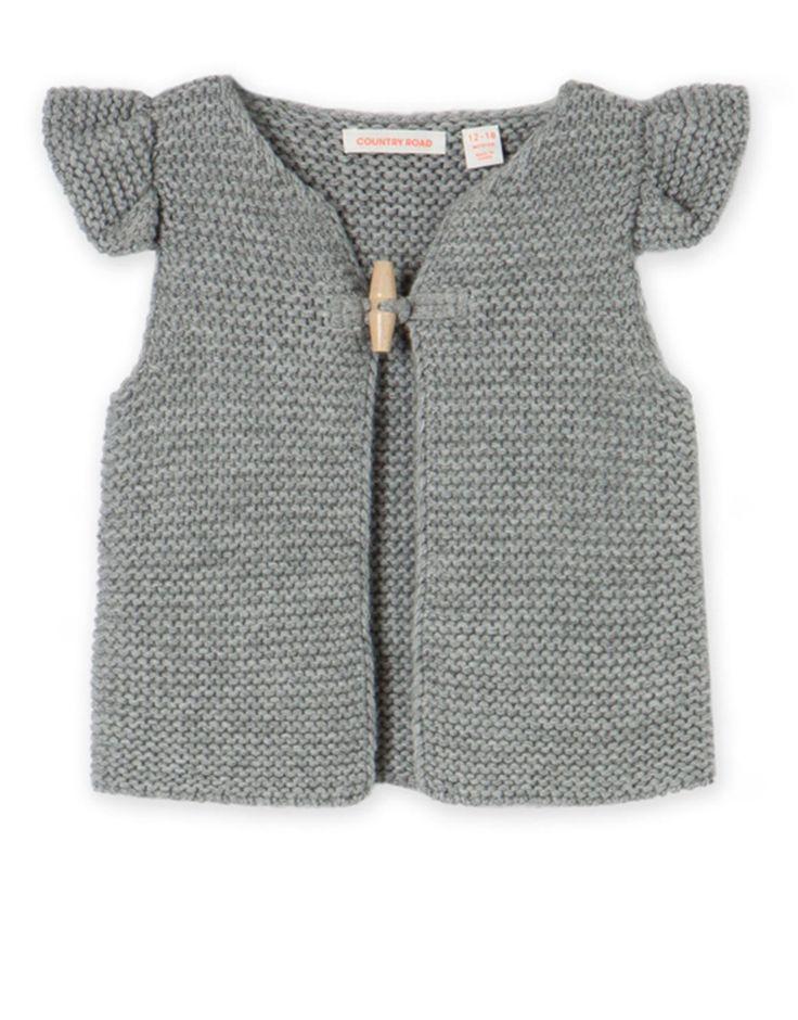 Ruffle Sleeve Knit Vest