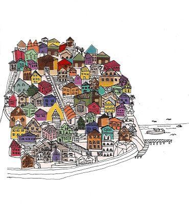 mis dibujos: Etiqueta Vino Puerto Valparaiso