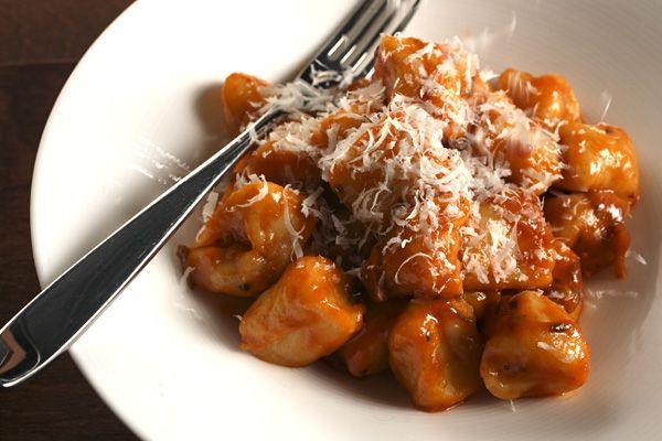 Weekday dinner ideas | Potato Gnocchi with Tomato-Porcini Sauce. Plus the secret to making superlight gnocchi