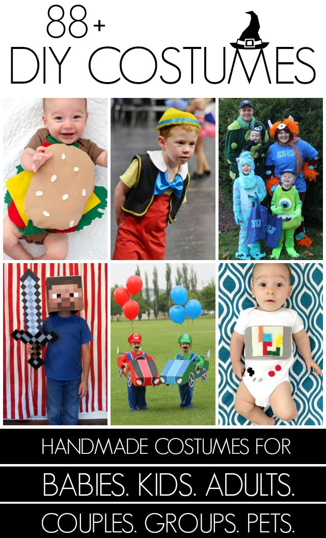 101+ Handmade Halloween costumes at Creating Really Awesome Free Things #costume #halloween