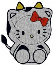 Cow Kitty embroidery design - Machine Embroidery Designs