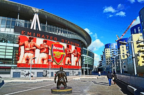 Statue of Thierry Henry, Emirates Stadium; home of Arsenal FC