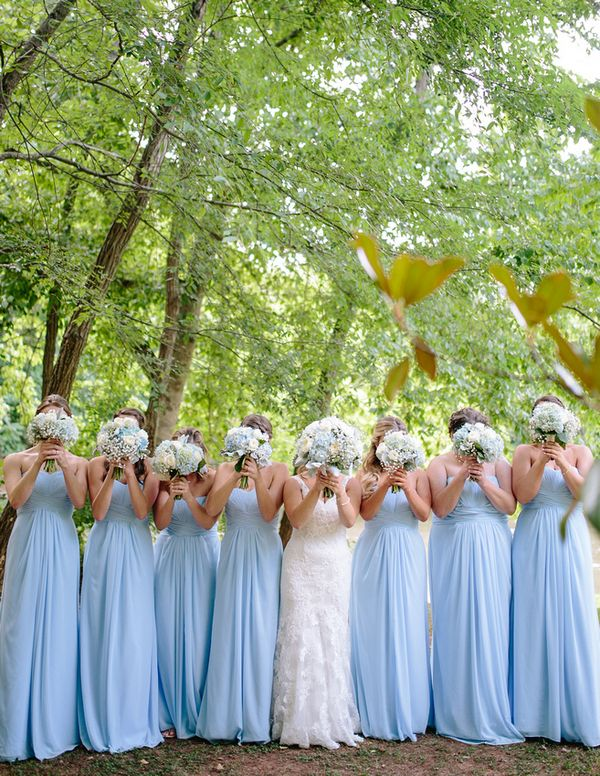 Powder Blue Lovelies|Light Blue & Tan Summer Wedding at the The Variety Works|Photographer: Brandy Angel Photography