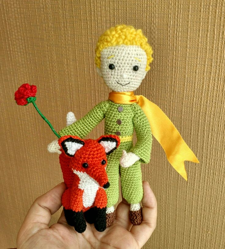 Le petit Prince doll the Little prince Amigurumi doll handmade