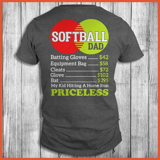Softball Dad My Kid Hitting A Home Run Priceless Shirt