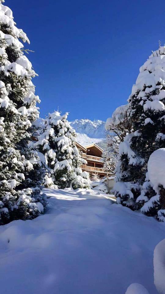 View of one of our chalets in Meribel Mottaret, France. The snow just keeps on coming! Take a look at http://www.powderwhite.com/