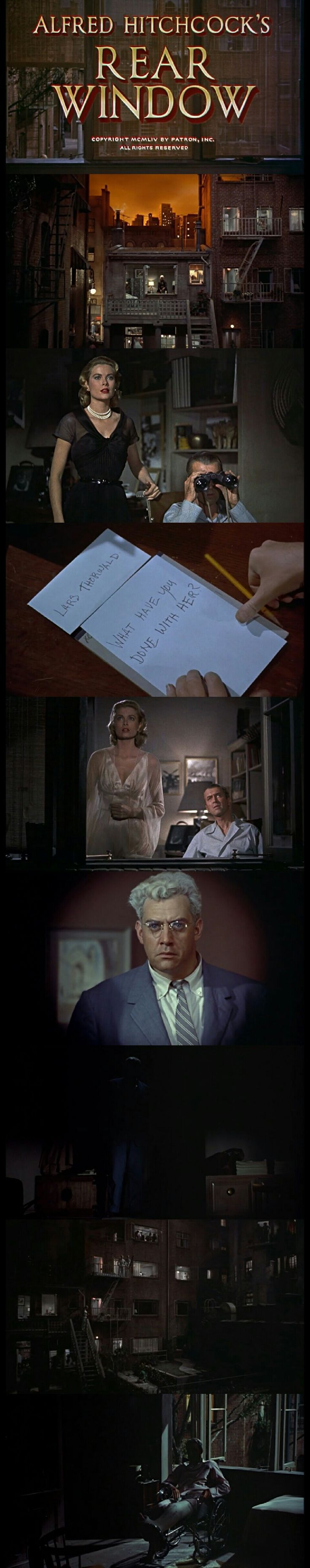 "alfred hitchcocks rear window analysis Rear window is a 1954 suspense thriller directed by alfred hitchcock, written by john michael hayes and based on the 1942 short story ""it had to."