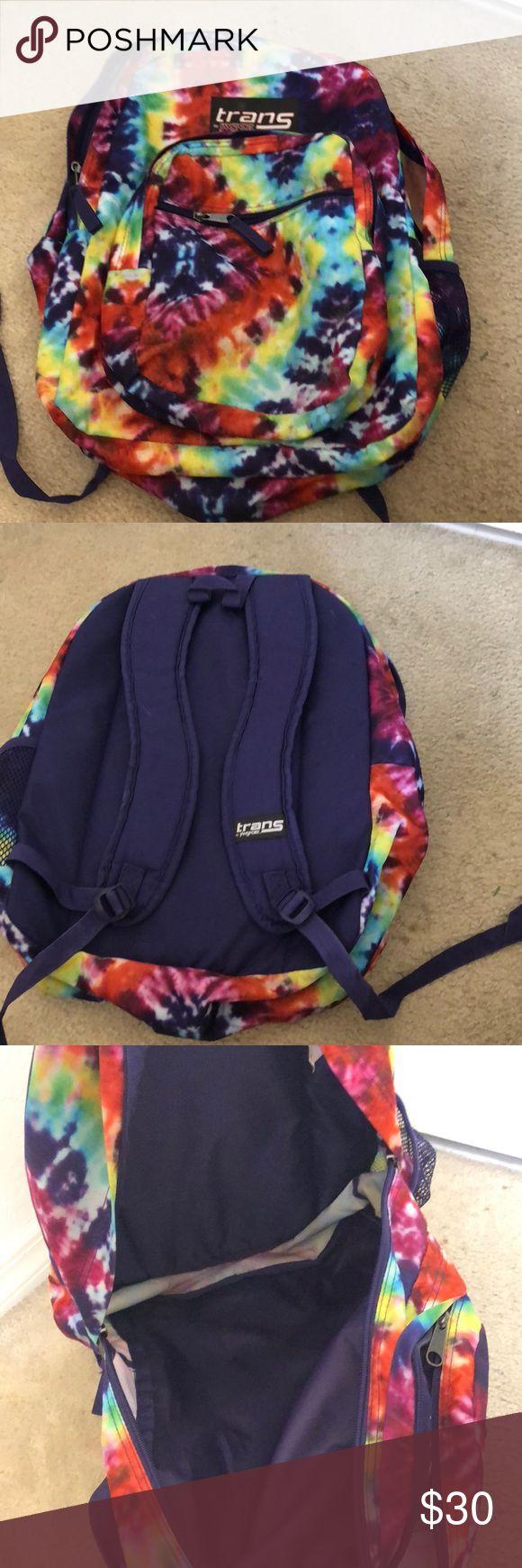 Jansport tie-dye backpack Tie-dye jansport backpack! Jansport Bags Backpacks