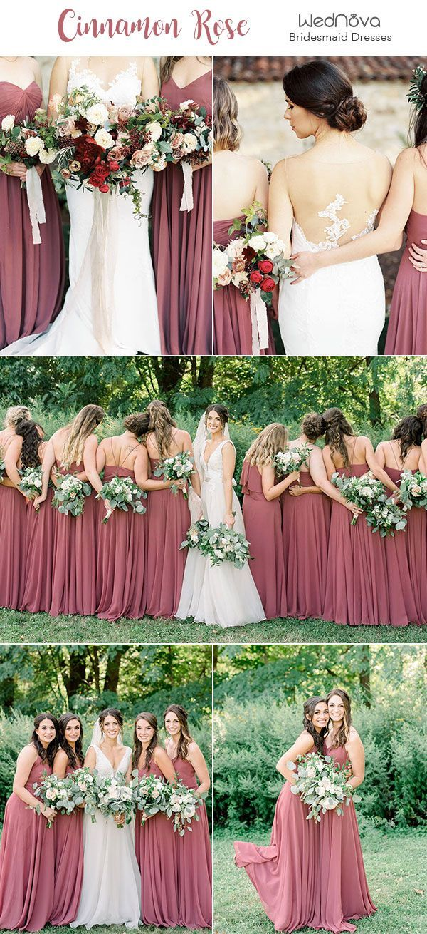 10 Trendy Amp Romantic Cinnamon Rose Bridesmaid Dresses And
