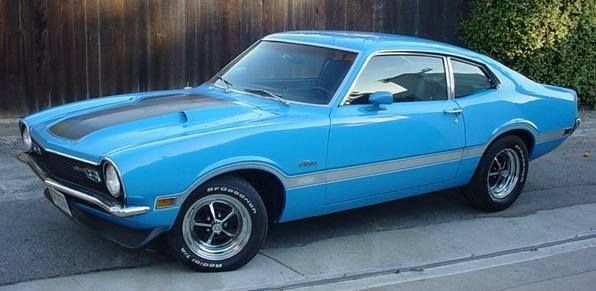 Blue 1972 Ford Maverick Grabber-With a BOSS 302 and 411  www.powerpacknation.com