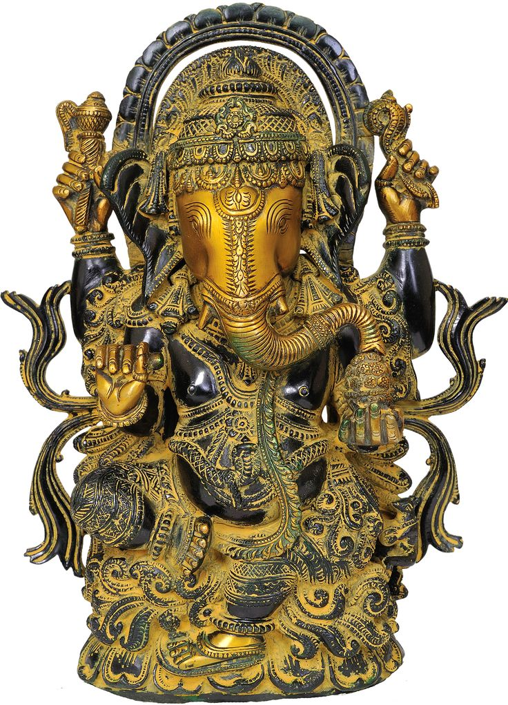 Brass statue of Lord Ganesha