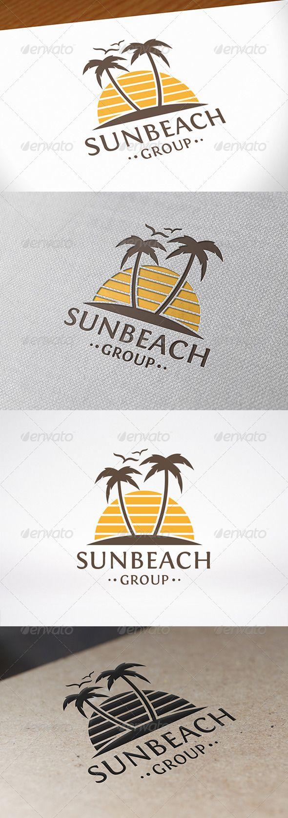 Sun Beach - Logo Design Template Vector #logotype Download it here: http://graphicriver.net/item/sun-beach-logo-template/8108793?s_rank=1411?ref=nexion