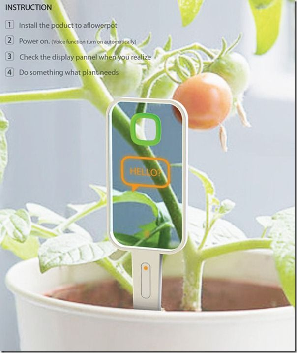 Monologue Plant Monitor   The Monologue Plant Monitor Is A Futuristic  Gadget Designed To Track The Health And Well Being Of Your Garden.