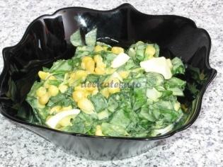 Salata de leurda cu porumb