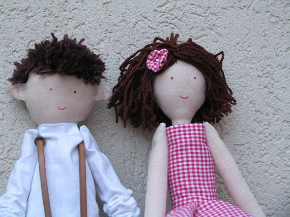 Custom personalized ragdolls  dolls made from photo by apacukababa, $80.00