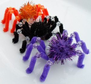 Too Cute to Spook Spiders are the easiest Halloween crafts for kids, but they're so cute that everyone will want to make them!