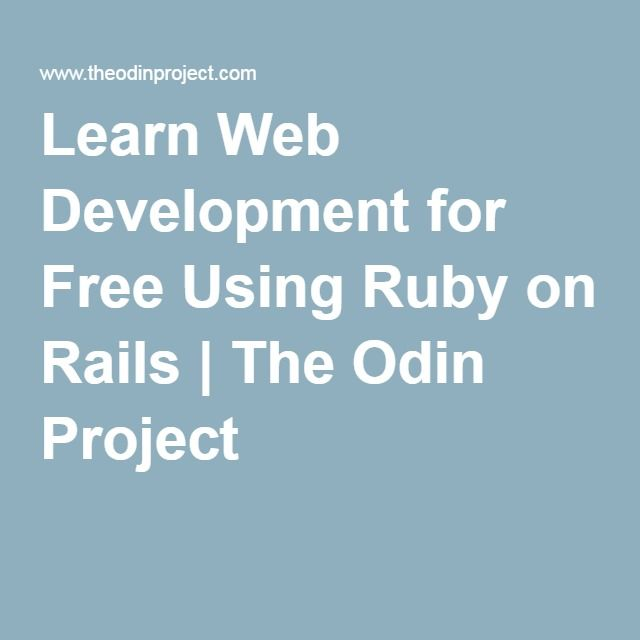 Learn Web Development for Free Using Ruby on Rails   The Odin Project