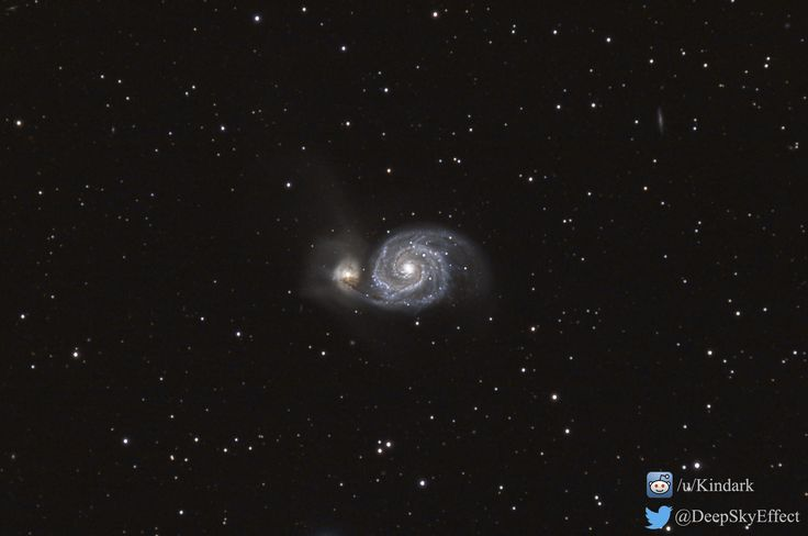 The Whirlpool Galaxy, as seen by my camera