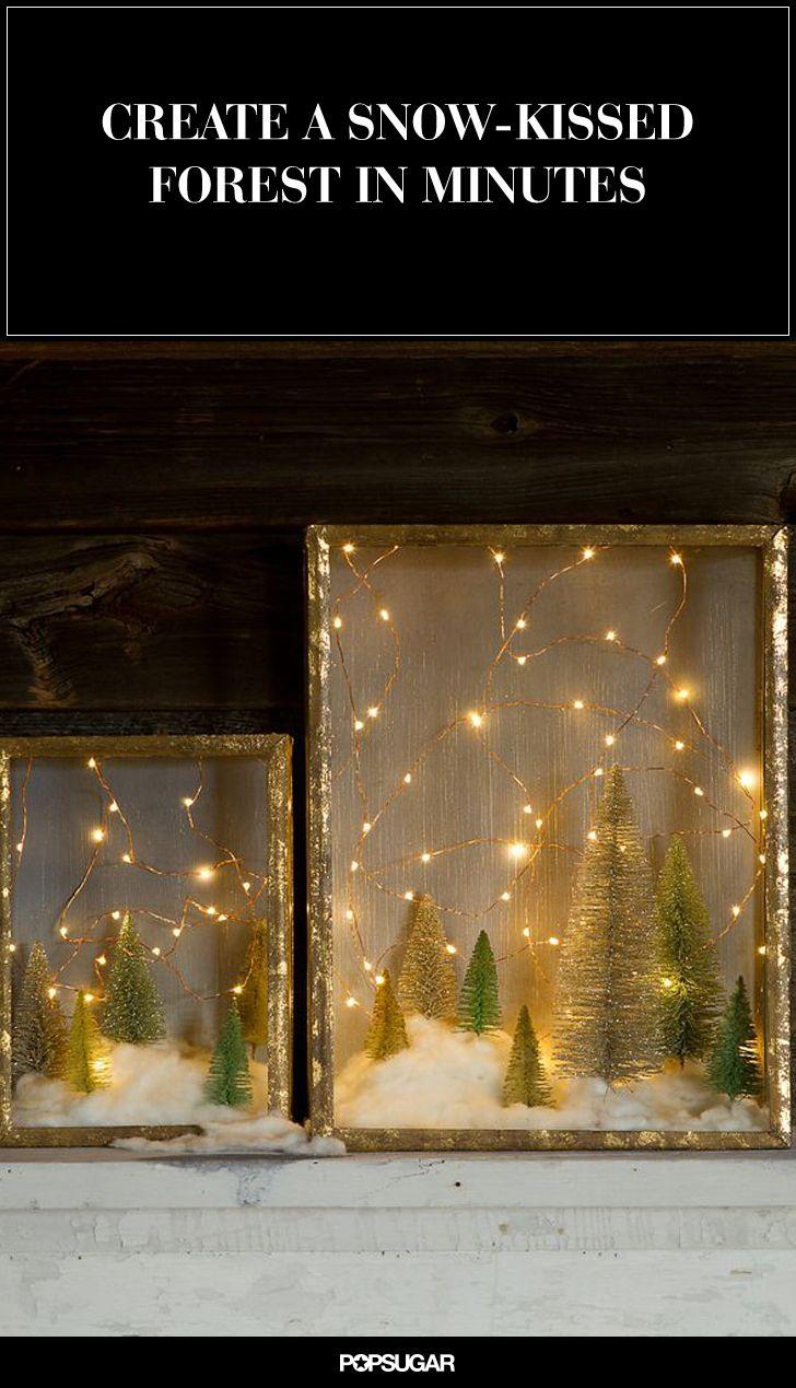 Easy DIY holiday shadow box