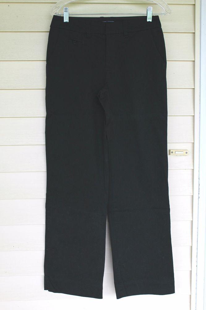 Cherokee Black Khaki Pants, Straight legs, Womens size 2 #Cherokee #KhakisChinos