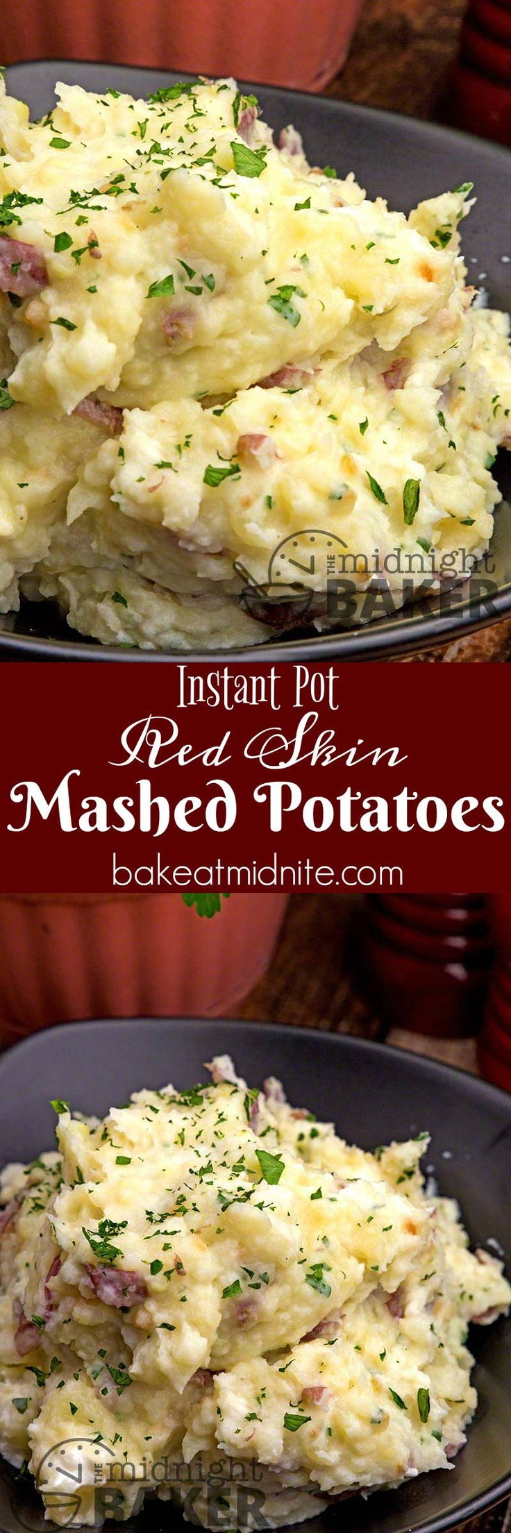 Have these rustic red skinned mashed potatoes super quick with the Instant Pot