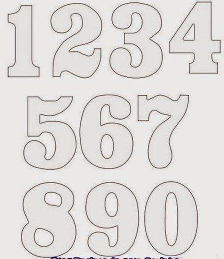 moldes de números em eva