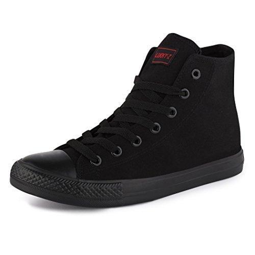 Oferta: 18.9€. Comprar Ofertas de Best–Botas para mujer de alta Top Zapatillas schnürer Slipper Zapatos deportivo, negro - Black - High Top ALLBlack, 39 EU barato. ¡Mira las ofertas!