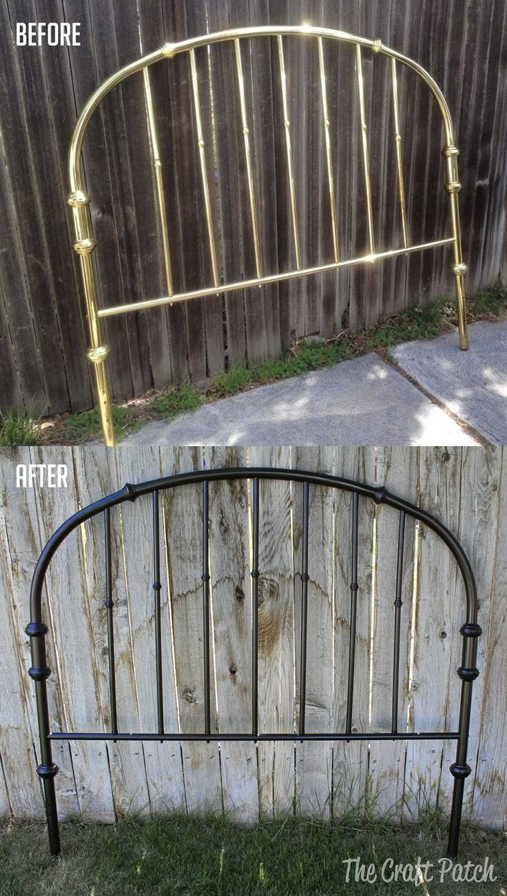 The Craft Patch: Old Brass Headboard Makeover